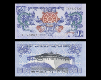 Bhutan, P-27a, 1 ngultrum, 2006