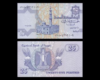 Egypt, P-057h, 25 piastres, 2008