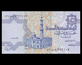 Egypte, P-057h, 25 piastres, 2008