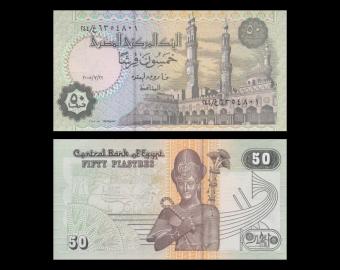 Egypt, P-062e, 50 piastres, 2005