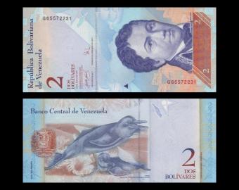 Venezuela, p-88b, 2 bolivares, 2007