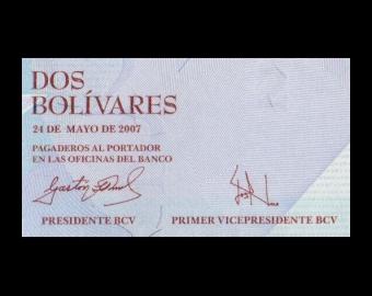 Venezuela, P-088b, 2 bolivares, 2007