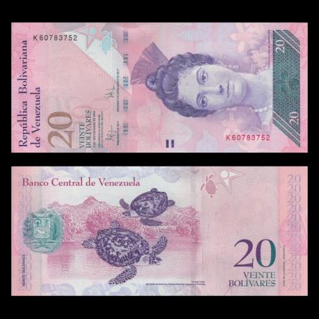 Venezuela, p-91d, 20 bolivares, 2009