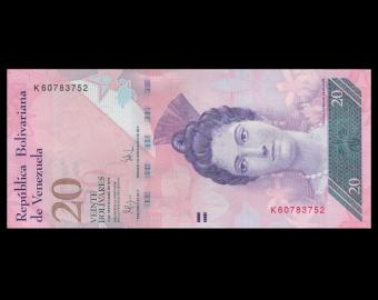 Venezuela, P-091d, 20 bolivares, 2009