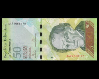Venezuela, P-092j, 50 bolivares, 2015