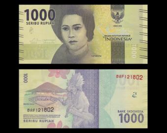 Indonésie, P-154a, 1000 rupiah, 2016