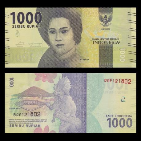 Indonesia, P-154a, 1000 rupiah, 2016