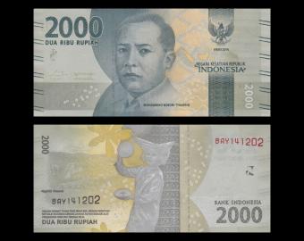 Indonesia, P-155, 2000 rupiah, 2016