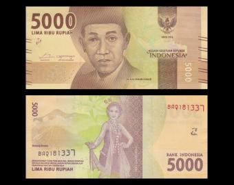 Indonesia, P-156a, 5000 rupiah, 2016