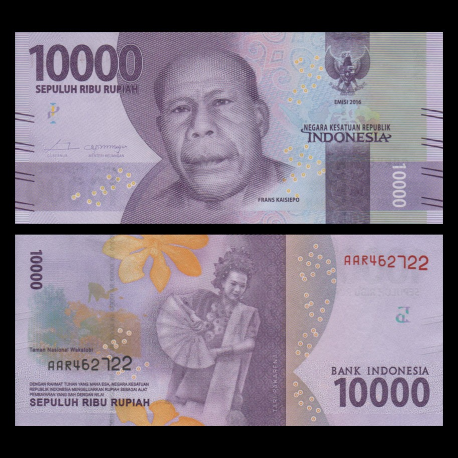 Indonesia, P-157, 10000 rupiah, 2016