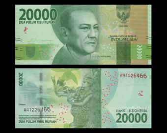 Indonesia, P-158, 20000 rupiah, 2016