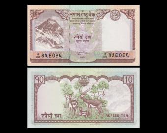 Nepal, P-61b, 10 roupies, 2010