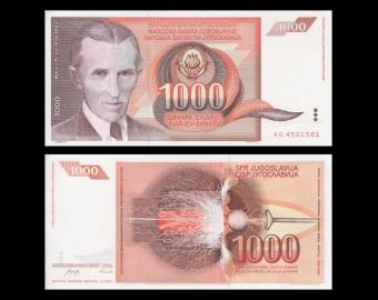 Yugoslavia, P-107, 1000 dinara, 1990