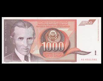 Yougoslavie, P-107, 1.000 dinara, 1990