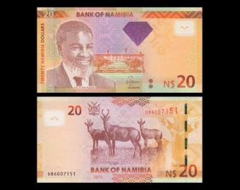 Namibia, P-12b, 20 dollars, 2013
