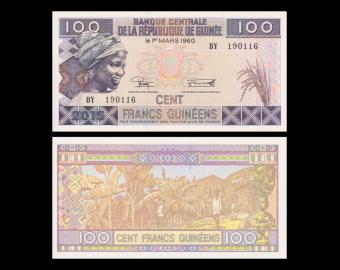 Guinea, p-New, 100 francs, 2015