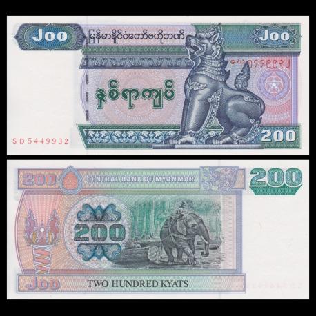 Myanmar, P-78, 200 kyats, 2004, P-Neuf/A-UNC