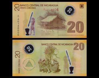 Nicaragua, P-202b, 20 cordobas, polymer, 2007