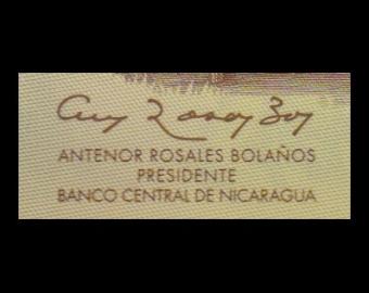 Nicaragua, P-202b, 20 cordobas, polymère, 2007