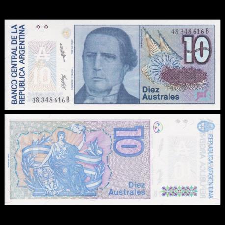 Argentine, P-325b, 10 australes, 1985-1989