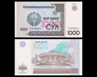 Ouzbékistan, P-82, 1.000 som, 2001