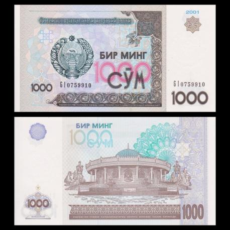 Uzbekistan, P-82, 1.000 som, 2001