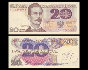 Poland, P-149a2, 20 zlotych, 1982