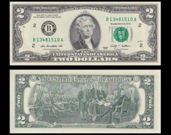 USA, P-New2B, 2 dollars, New York, 2009