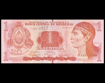 Honduras, P-096b, 1 lempira, 2014