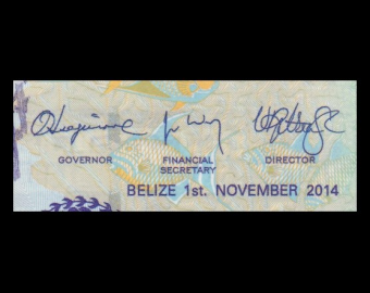 Belize, P-66e, 2 dollars, 2014