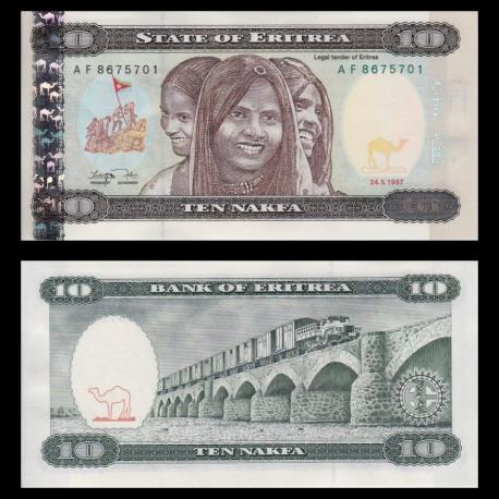 Eritrea, P-3, 10 nakfa, 1997