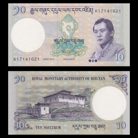 Bhoutan, p-29b, 10 ngultrum, 2013