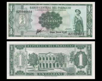 Paraguay, p-193b, 1 guarani, 1963