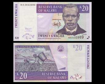 Malawi, p-52d, 20 kwacha, 2007