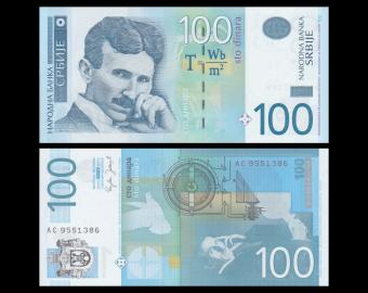 Serbia, P-49, 100 dinara, 2006
