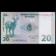 Congo, P-83, 20 centimes, 1997, recto