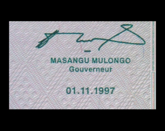 Congo, P-083, 20 centimes, 1997