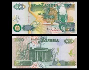 Zambia, 20 kwacha, 1992