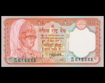 Nepal, P-38b1, 20 rupees, 1995-2001