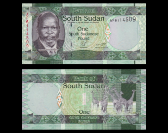 South Sudan, P-05, 1 pound, 2011