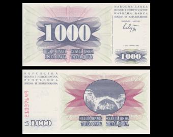 Bosnie-Herzégovine, P-15, 1000 dinara, 1992
