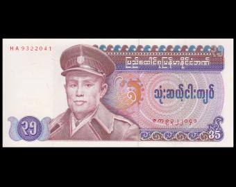Birmanie, P-63, 35 kyats, 1986