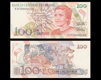 Brazil, P-228, 100 cruzeiros, 1990, PresqueNeuf / A-UNC