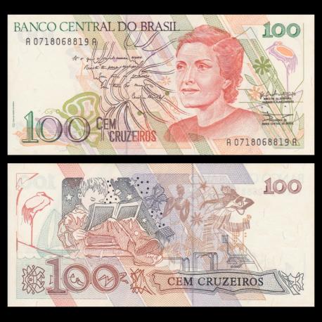 Brésil, p-228, 100 cruzeiros, 1990, PresqueNeuf / A-UNC