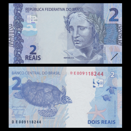 Brésil, p-252c, 2 reais, 2010
