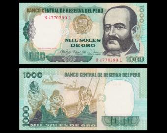 Pérou, P-122, 1 000 soles de oro, 1981