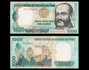 Peru, P-122, 1 000 soles de oro, 1981