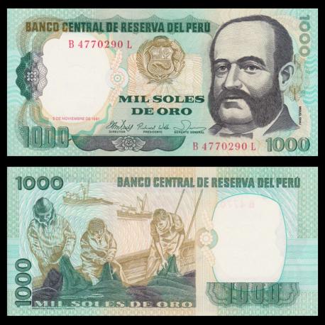 Pérou, P-122, 1 000 intis, 1981