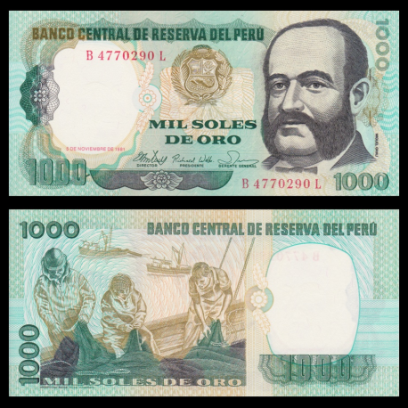 Peru, P-122, 1 000 intis, 1981