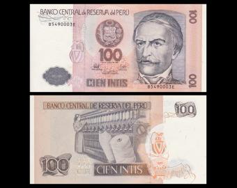 Peru, P-133, 100 intis, 1987